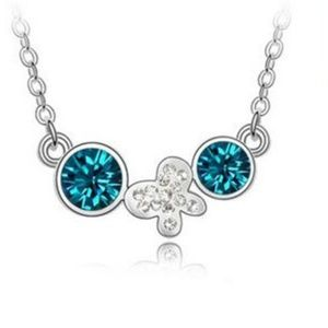 Jewelry - Turquoise Crystal Butterfly Necklace